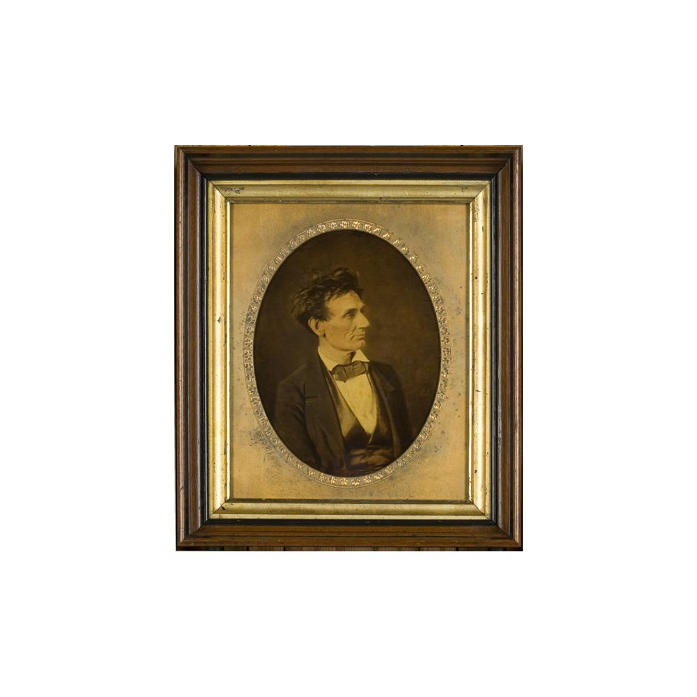 Image: Hesler Lincoln Whole Plate Ivorytype