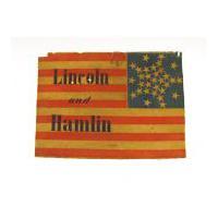 Image: Lincoln and Hamlin campaign flag