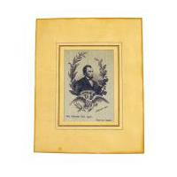 Image: French silk Lincoln mourning ribbon