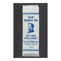 Image: Lincoln Republican Club ribbon