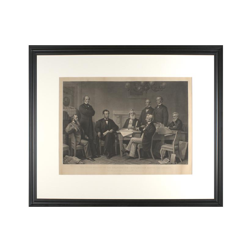 Image: The First Reading of the Emancipation Proclamation Before the Cabinet