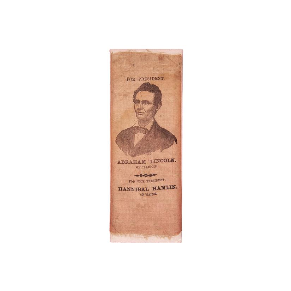 Image: Abraham Lincoln campaign ribbon