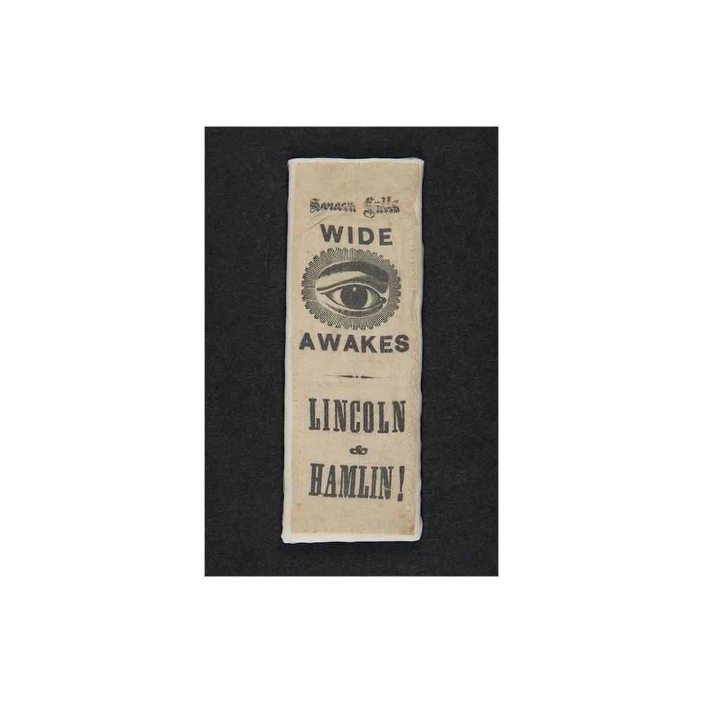 Image: Lincoln and Hamlin campaign ribbon