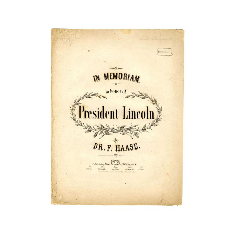 Image: Funeral March.  In Memoriam.  In Honor of President Lincoln