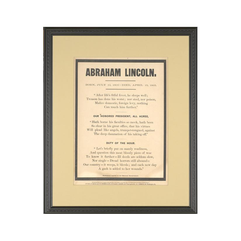 Image: Abraham Lincoln bereavement notice