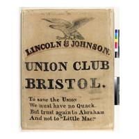 Image: Lincoln and Johnson Union Club Bristol banner