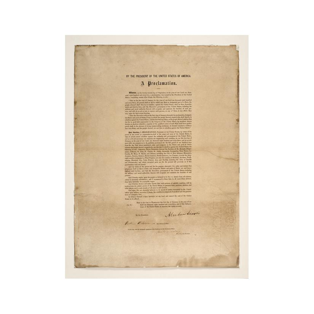 Image: Emancipation Proclamation, Leland-Boker Edition