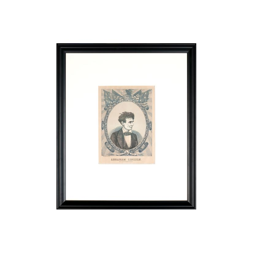 Image: Abraham Lincoln from a Photograph by Hesler, Issued for the 1860 Republican National Convention