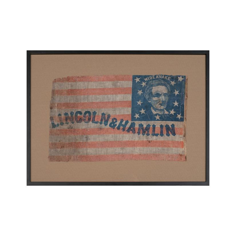 Image: Lincoln and Hamlin campaign banner