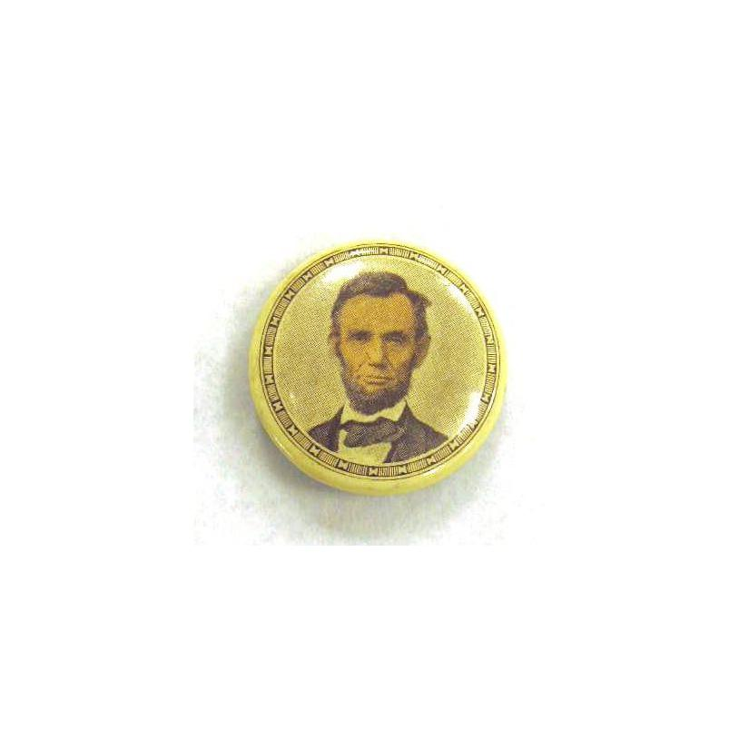 Image: Abraham Lincoln  political tab button