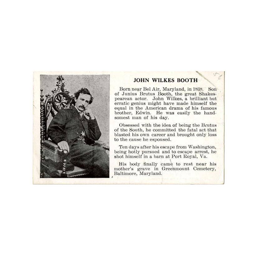 Image: Postcard of John Wilkes Booth
