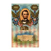 Image: Color postcard of Abraham Lincoln