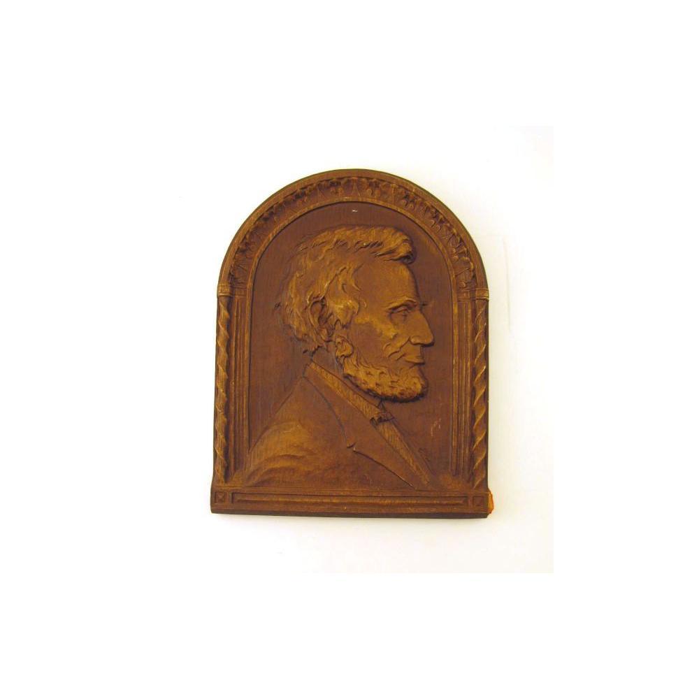Image: Abraham Lincoln bah-relief plaque
