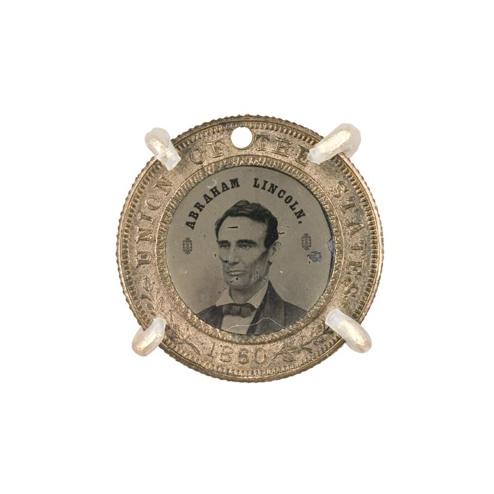 Image: Abraham Lincoln 1860 campaign button