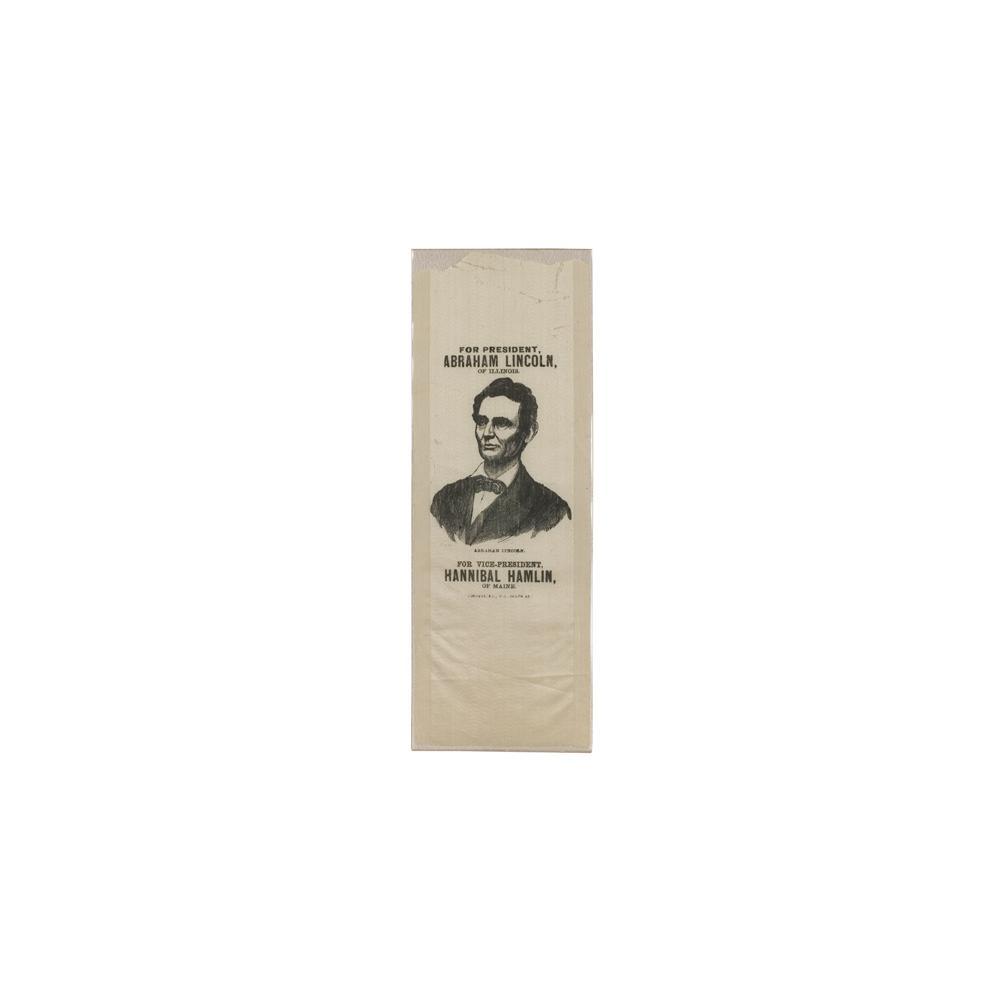 Image: Abraham Lincoln 1860 campaign ribbon