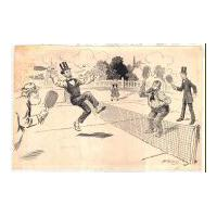 Image: Lincoln Playing Tennis