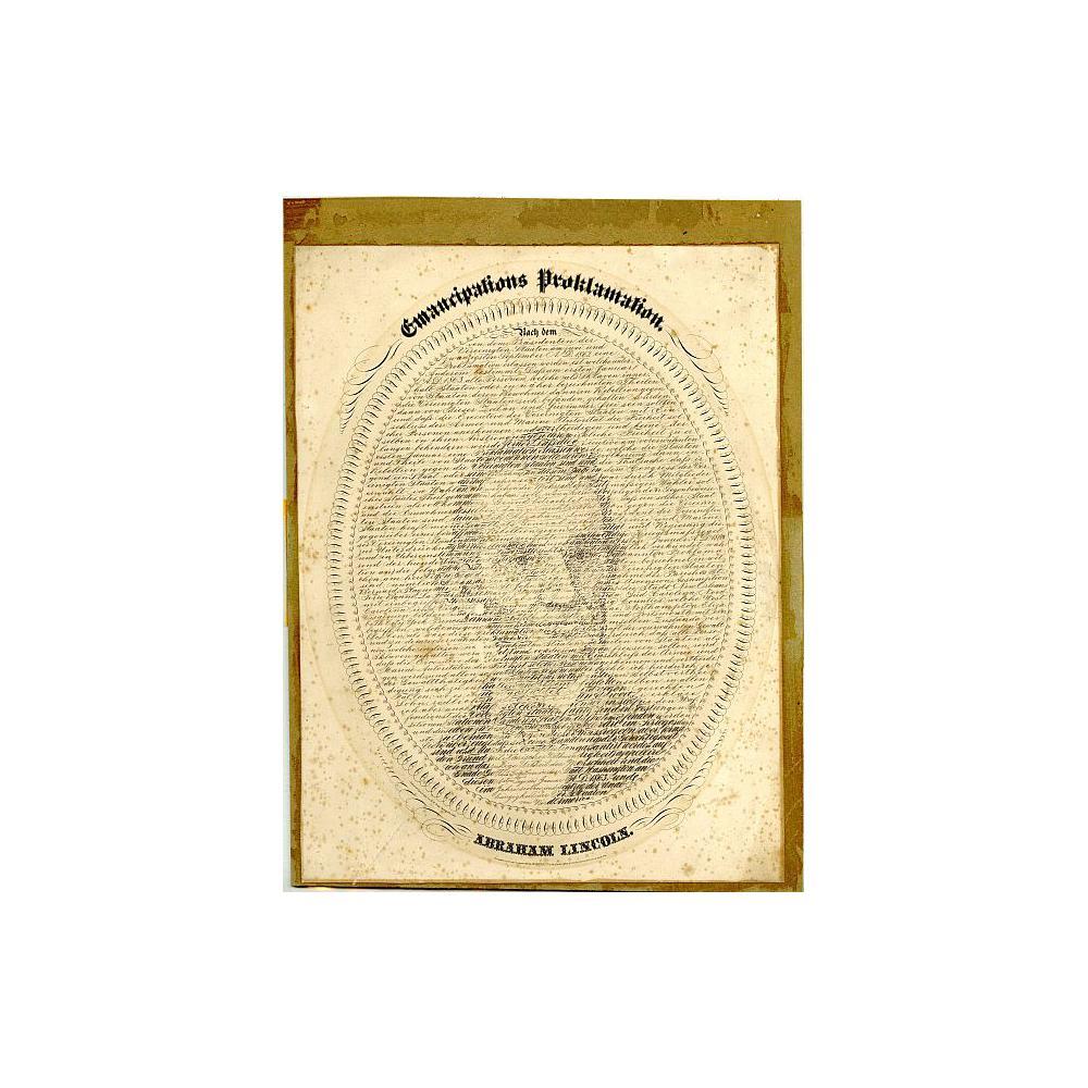 Image: Emancipation Proclamation Lincoln Portrait