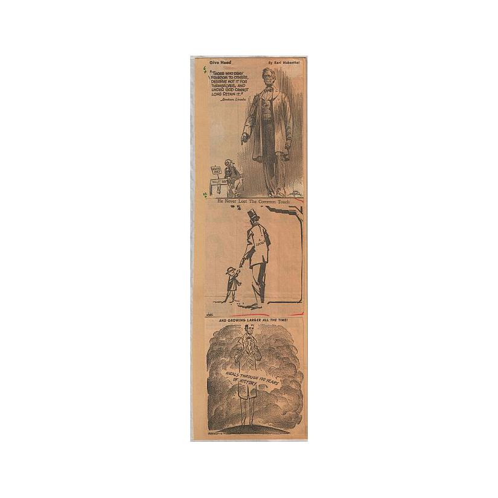 Image: Three Lincoln Cartoons