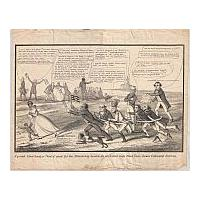 Image: A Grand Slave Hunt, or Trial of Speed for the Presidency between the celebrated nags Black Dan, Lewis Cass, and Haynau