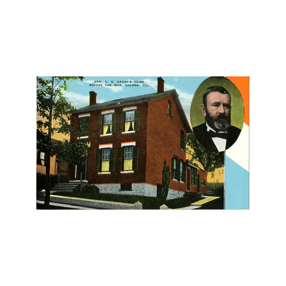 Image: Gen. U. S. Grant's Home Before the War, Galena, Ill.