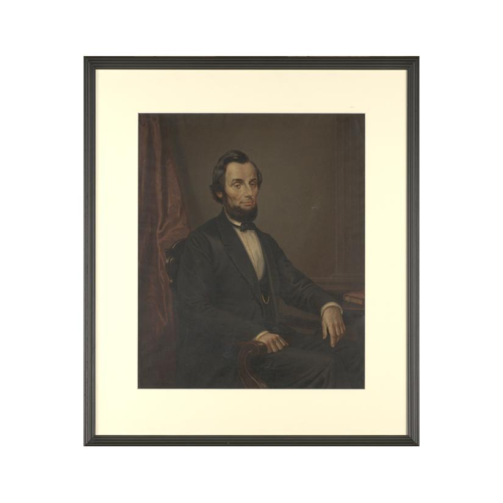 Image: German Chromolithograph of President Abraham Lincoln