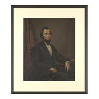 Image: German Chromolithograph of President Abraham Lincoln