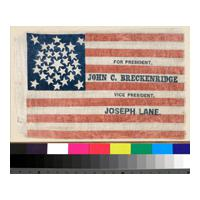 Image: Breckinridge and Lane campaign flag
