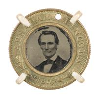 Image: Abraham Lincoln 1860 campaign button