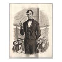 Image: Young Lincoln Giving A Public Speech