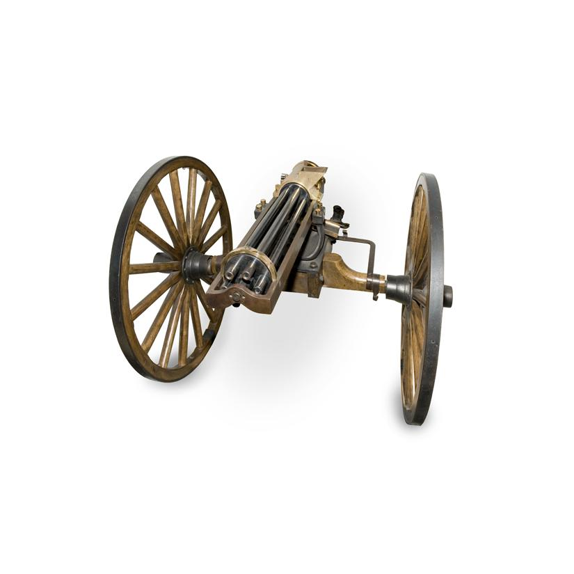 Image: scale model of a Gatling gun
