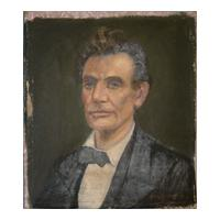 Image: Oil painting of a Young Abraham Lincoln