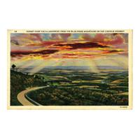 Image: Sunset over the Alleghenies from the Blue Ridge Mountains on the Lincoln Highway