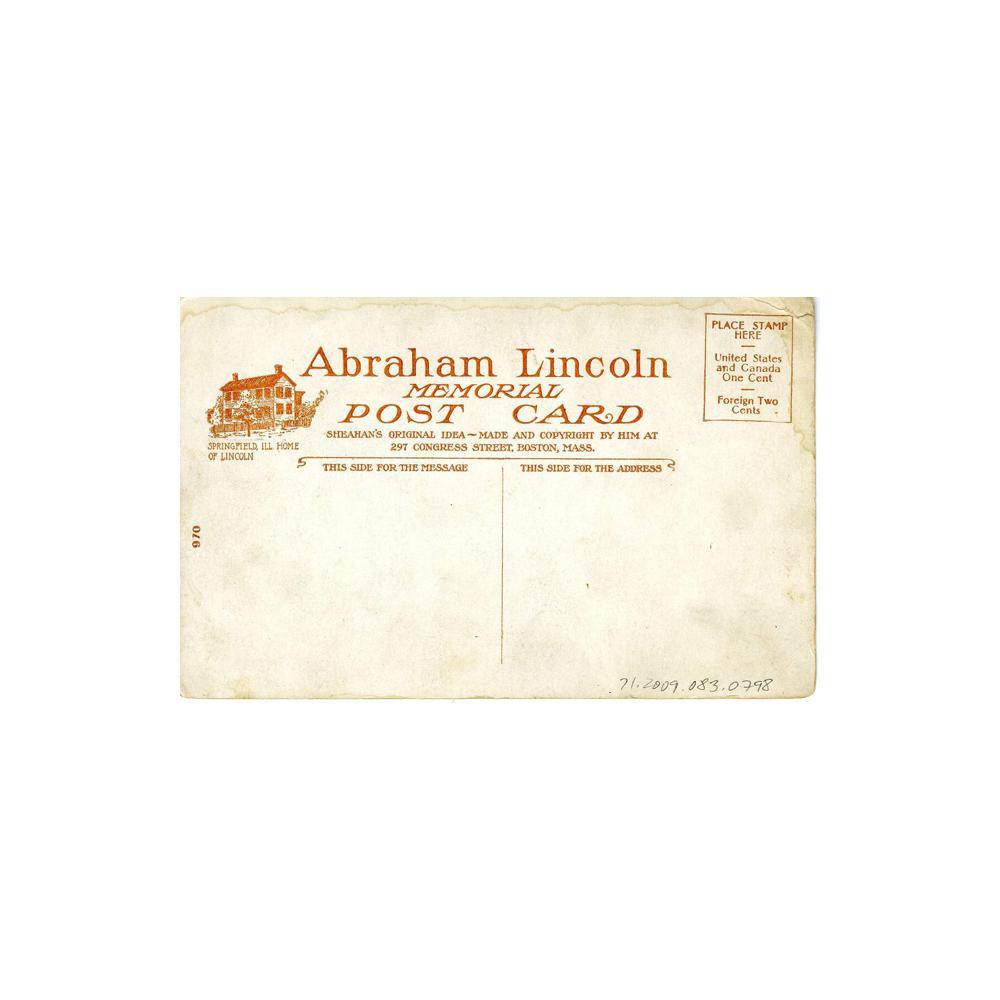 Image: Lincoln Memorial Postcard