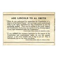Image: Abe Lincoln to Al Smith