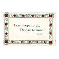 "Image: ""Teach hope..."" quotation"