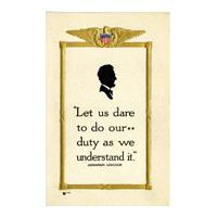 "Image: ""Let Us Dare to Do Our Duty..."" Quotation"
