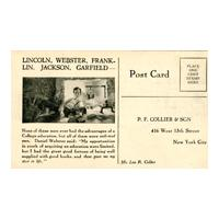 Image: The Harvard Classics Free Examination Card