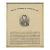 Image: Patriotic Sentiments of President Lincoln