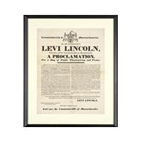 Image: Thanksgiving Proclamation by Governor Levi Lincoln