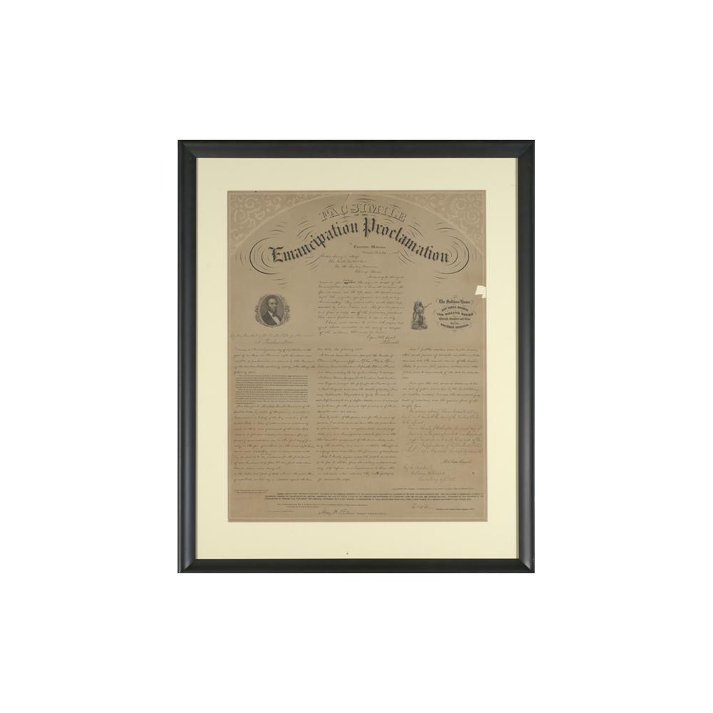 Image: Facsimile of Emancipation Proclamation