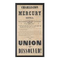 Image: Charleston Mercury: The Union is Dissolved