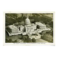 Image: The Capitol, Washington - On the Baltimore & Ohio Railroad