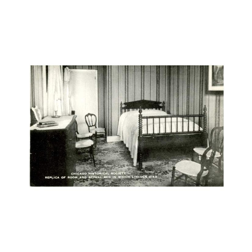 Image: Replica of Room and Actual Bed in which Lincoln Died