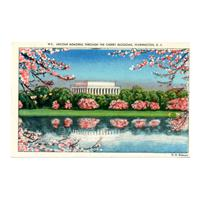 Image: Lincoln Memorial Through the Cherry Blossoms, Washington, D. C.