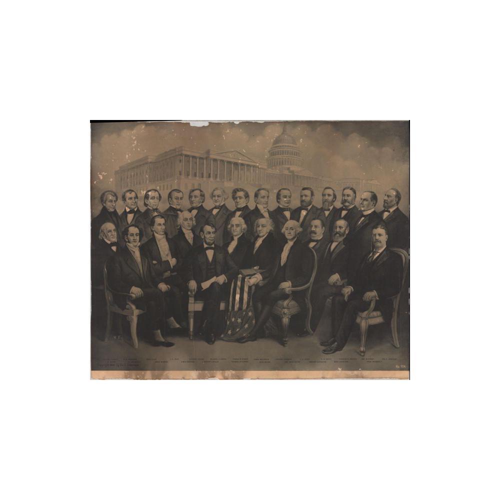 Image: Presidents Washington through Theodore Roosevelt