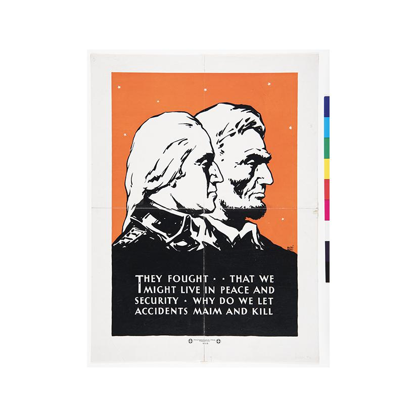 Image: [Washington and Lincoln]  They Fought That We Might Live in Peace and Security