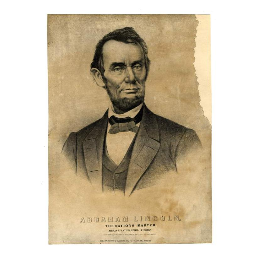 Image: Abraham Lincoln, The Nations Martyr.