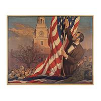 Image: Lincoln at Independence Hall