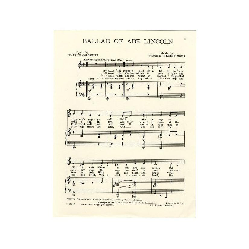 Image: The Ballad of Abe Lincoln