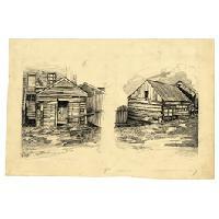 Image: Buildings in New Salem, Illinois